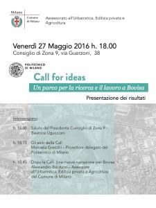 Call for ideas del 27