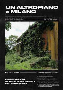 Locandina evento Un altro Piano per Milano 18 giugno 2019